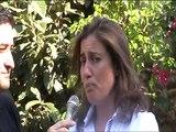 La dottoressa Alessandra MAZZEI, titolare della Masseria Le colline del Gelso, illustra l'iniziativa socio culturale Le colline del jazz