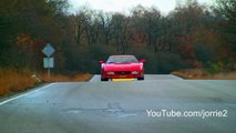 Ferrari Testarossa w/ Fuchs exhaust sound! Very loud sounds!   1080p HD