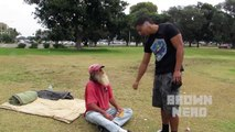 HOMELESS PEOPLE PRANK SOCIAL EXPERIMENT  Homeless Experiment  PRANKS IN THE HOOD!