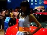 2104 Pretty woman pretty beautiful car models Tian Tian guest Tencent Chat
