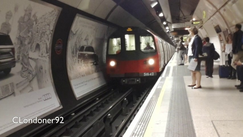London Underground 1995 stock at London Bridge & Elephant & Castle