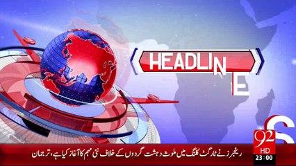 Headlines - 11:00 PM – 10 Sep 15 - 92 News HD