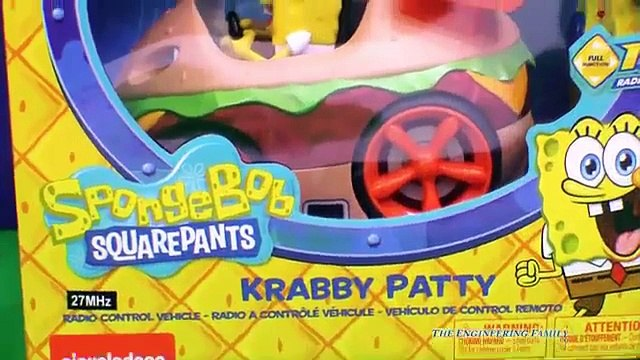 SPONGEBOB Nickelodeon Spongebob Squarepants Krabby Patty Car a SpongeBob Video Toy Review