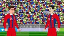 Bayern München vs FC Porto 6-1 2015 ~ Goals Cartoon [HD]