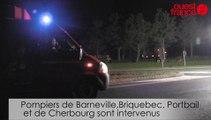 Un camion de soude se renverse à l'entrée de Barneville-Carteret
