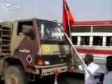 Liberation Activists attack Indian military vehicles Indian army runs away leaving weapons on road