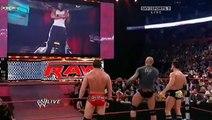 Kofi Kingston defaces The Viper's Randy Orton NASCAR @ WWE Monday Night RAW - 10/26/09