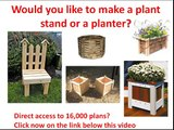 Wooden planter plans: How to make a Wood planter plan? Wood planter drawings needed? (Click Here)
