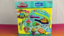 Play Doh Scoops  N Treats Ice Cream Cones, Popsicles, Scoops, Sundaes and Play Doh Waffle Cones