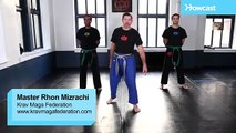 Krav Maga Training|Outside Defense against a Kick|Self Defense Fighting Techniques