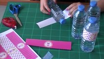Botellas decoradas para fiestas. Aprende a decorar botellas de vidrio o plástico.