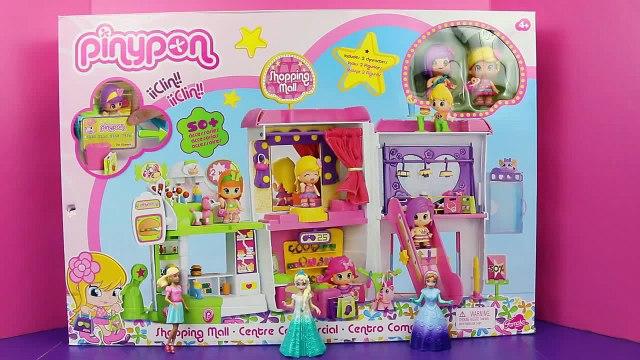 Frozen Elsa Anna & Barbie Magic Clip Dolls Shop PINYPON Juegos Shopping Mall Toys DisneyCarToys