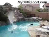 Dog Slides Down Water Slide Over And Over FUNNY!!!