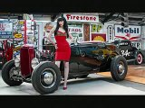 Big Mean Draggin Machine Rockabilly Hot Rod Pin up