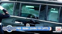 57th Presidential Inauguration-President Barack Obama Leaves Whitehouse For Inauguration Address