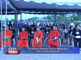Lao NEWS on LNTV: Vientiane residents call for smoke-free Chao Anouvong Park.19/5/2015