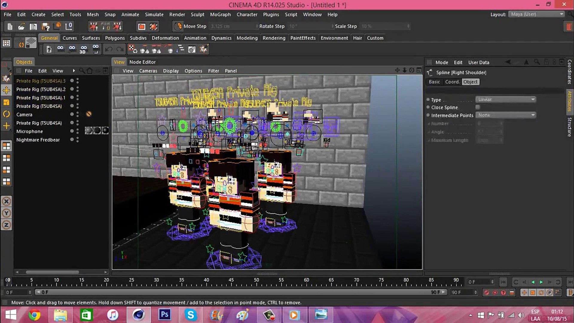 FNAF 4 Minecraft ~ SPEED RENDER