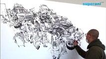 Dessinateur impressionnant à main levé - Kim Jung Gi, Illustrateur Coréen