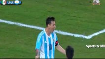 Gol de Messi - Mexico vs Argentina 2-2 Amistoso 2015