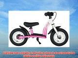 bike*star 25.4cm (10 Inch) Kids Learner Balance Beginner Run Bike Classic - Pink & White