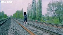 Lucky guys almost killed by trains... Crazy compilation