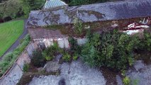 Philips Park Hall,Phillips Park, Whitefield, Manchester with a drone in 4K