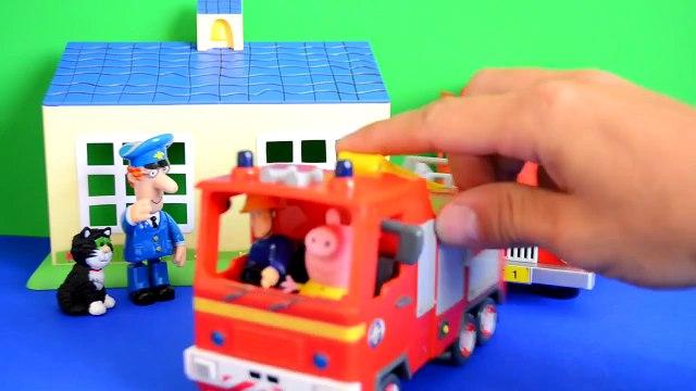 Fireman Sam  Peppa Pig Play-doh Postman pat Van Fire Fire Engine  Story WOW
