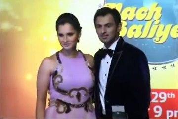 Sania Mirza and Shoaib Malik guest couple on NACH BALIYE