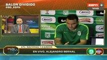 Bernal tras el 1-0 de Nacional a Junior · Copa Colombia 2015 (octavos, ida)