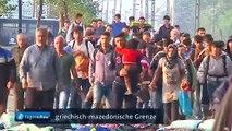 Flüchtlinge in Mazedonien: T. Rüger, ARD Wien, zur Lage im Grenzgebiet