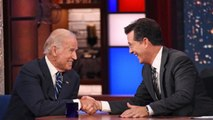 "Emotional Biden opens up about son and 2016 on ""Late Show"" with Colbert"