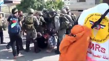 Zionist (israeli) security forces attack female protesters Part 1