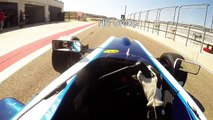 Formula Renault 2.0 - Motorland Aragon Onboard Helmet Cam - Alexandre Jouannem