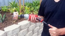 How to cut holes in your VEG garden pipe