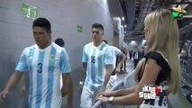 Messi ignora a la Sexy periodista Inés Sainz en el partido Mexico vs Argentina 2-2 Amistoso 2015