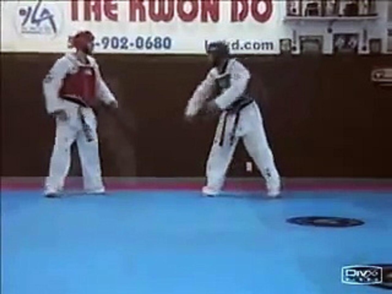 taekwondo body pad or hogu drills