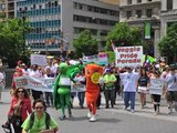 Veggie Pride Pride Parade NYC 2012, One World Revolution (song), images by Alan Rice