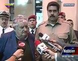 Pepe Mujica con Nicolás Maduro. El mejor homenaje a Chávez es NO al TLC con Unión Europea