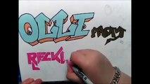 Speed Art: Graffiti and Stencil (Olli Herman From Reckless Love)