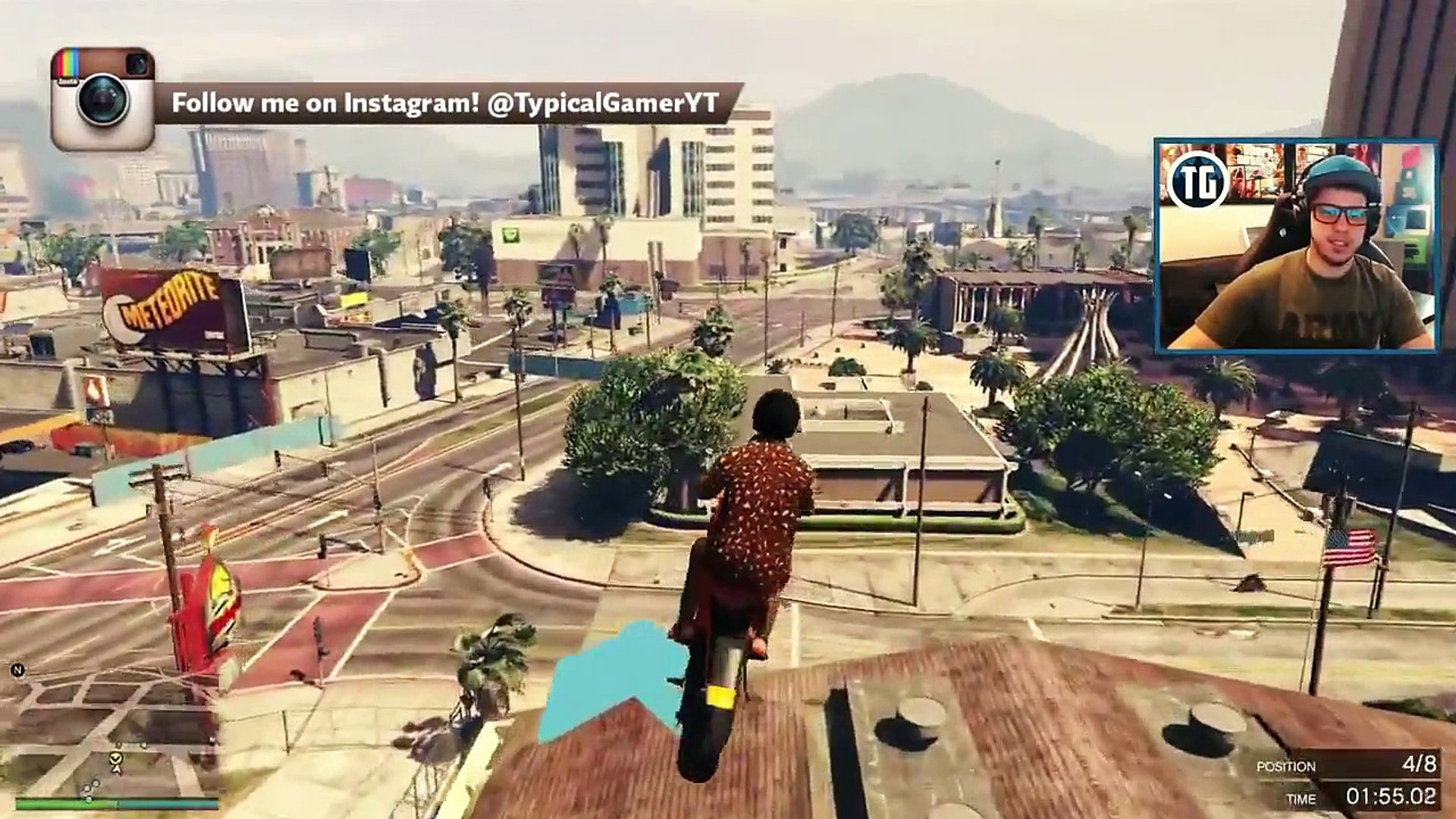 CRAZY BIKE PARKOUR RACES! (GTA 5 Funny Moments) -Typical Gamer