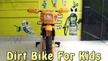 4 Wheel Dirt Bike for Kids | Yellow Dirt Bike Toys | Playing Kids Bike Toys