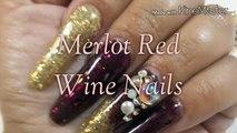 Merlot Red Wine Nails