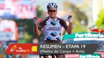 Resumen - Etapa 19 (Medina del Campo / Ávila) - La Vuelta a España 2015