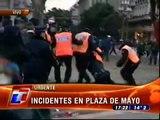 Incidentes en la Plaza de Mayo, Buenos Aires, Argentina