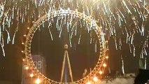 2009 London eye  Fireworks New Year Eve
