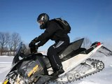 Snowmobile jumps, cliff drops, hill climbs on Skidoo Rev XP's