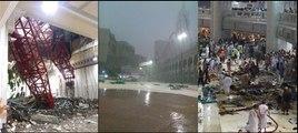 Makkah 18+ | Crane Falls on Pilgrims Hajj | Sand Storm Hits Makkah Today | 11 September 2015