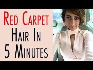 Red Carpet Hair In 5 Minutes | Anusha Dandekar