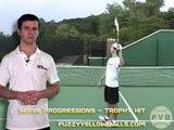 Tennis Serve Progressions Step 5 Trophy Pose Hit