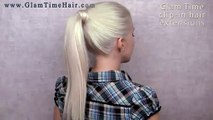 Braided ponytail hairstyle - cute everyday french braid for long hair Spring 2013 trend